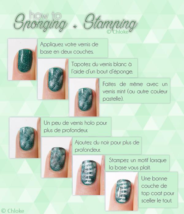 Sponging + Stamping